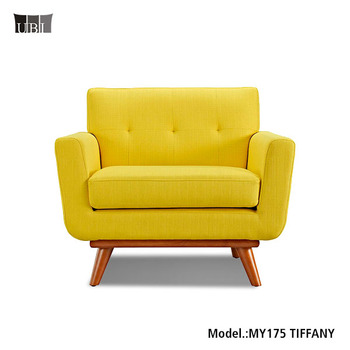Low Price Bright Color Single Seat Sofa Set Sofa Armchair Furniture With  Button Tufted MY175