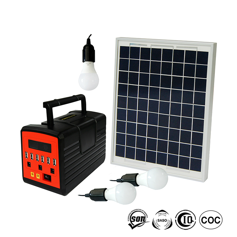 Indoor Solar Charging Lighting System Off Grid Solar Power System For Led Lighting