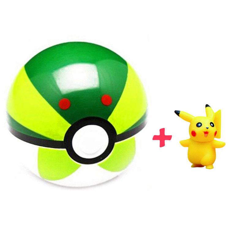 2 قطعة/الوحدة بوكيمون الكرة + بيكاتشو 10 سنتيمتر شخصيات أنيمي pokeball  للأطفال الطفل