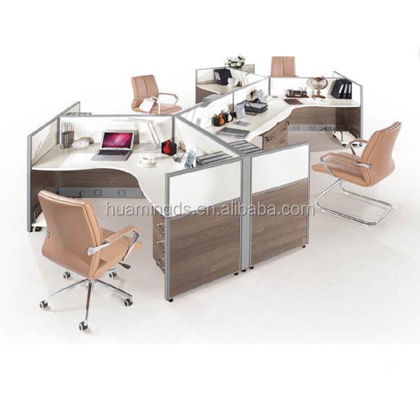 2017 New Design Gl Office Parion P 4 Person Desk