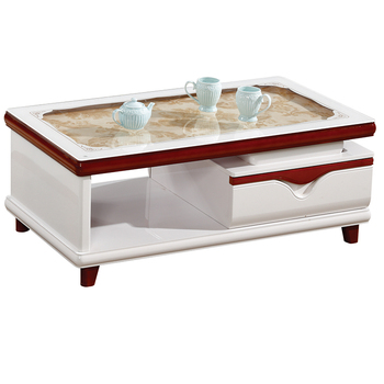 Cheap Modern Wooden Glass Coffee Table Simple Glass Top Wooden