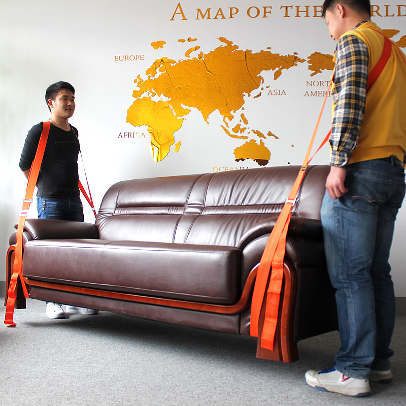 Sofa Furniture Moving Rope Belt Strap Weight Lifting Straps Carry Cargo Straps