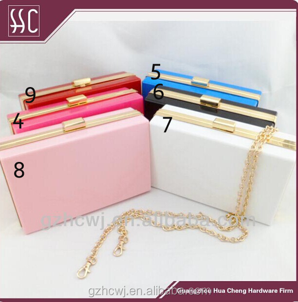 acrylic evening clutch bags,clutch frames with plastic box cover,purse frame hardware