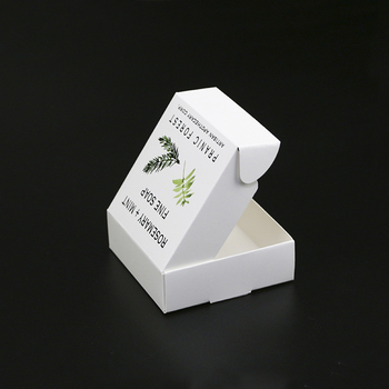 Eco-friendly recyclable luxury natural carton handmade soap packaging box