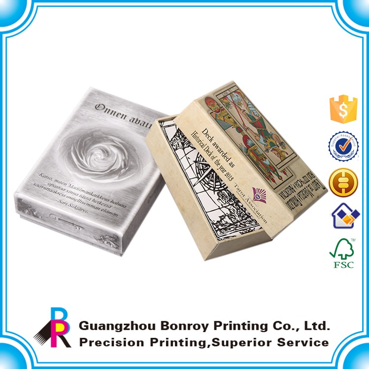custom playing cards with box logo printing game card