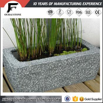 Rectangular Cuboid Shape Slate Stone Material Outdoors Plant Pots