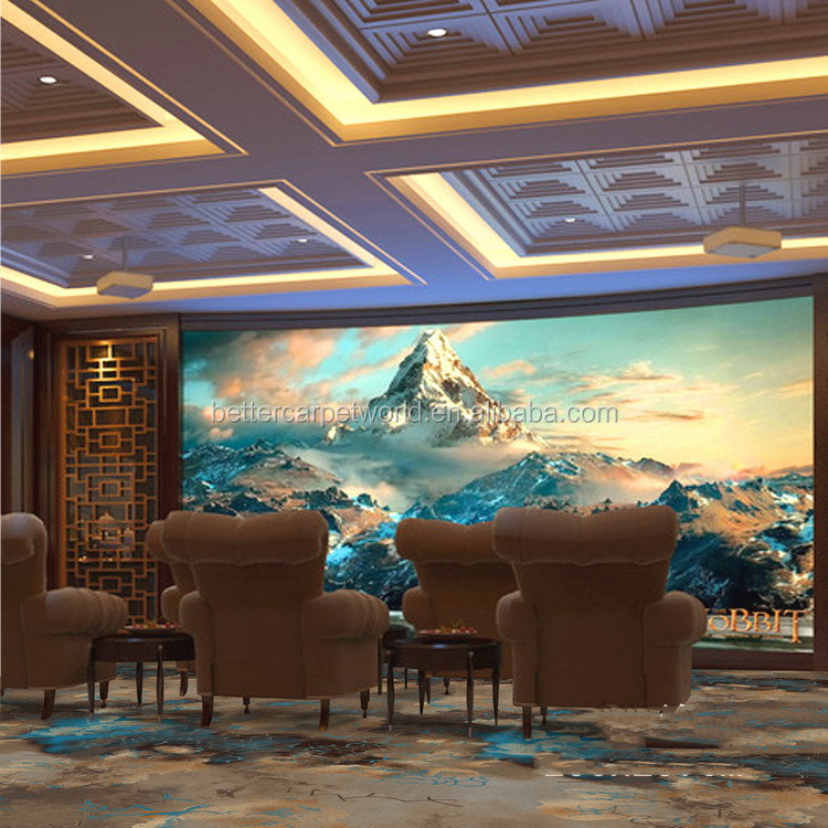 Tufted Printed Wall to Wall Nylon Carpet for hotel suite room