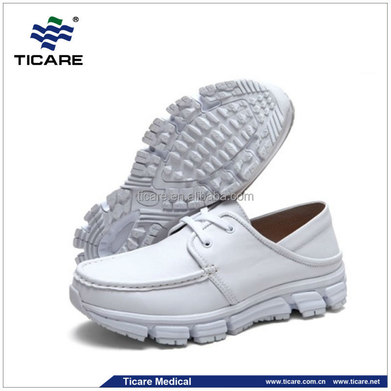 Medical Instruments White Leather Nursing Shoes