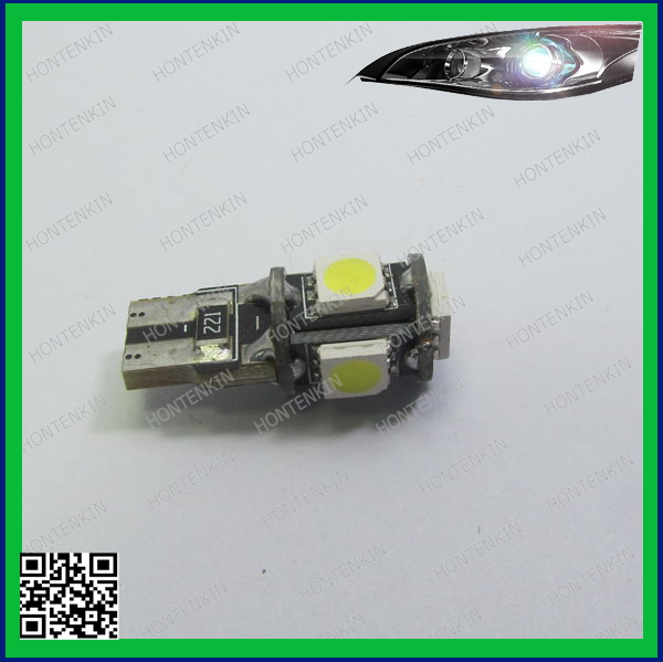 T10, 501, W5W, 194 CANBUS 5SMD LED BULB LIGHT NO OBC ERROR FREE LAMPS led canbus car bulbs