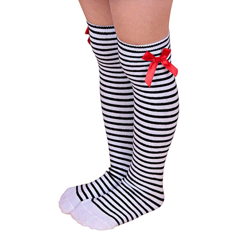 74bd8d2d086 Get Quotations · Sunward Little Girls Boys Knee-high Long Socks Cable-knit  School Uniform Socks Cosplay