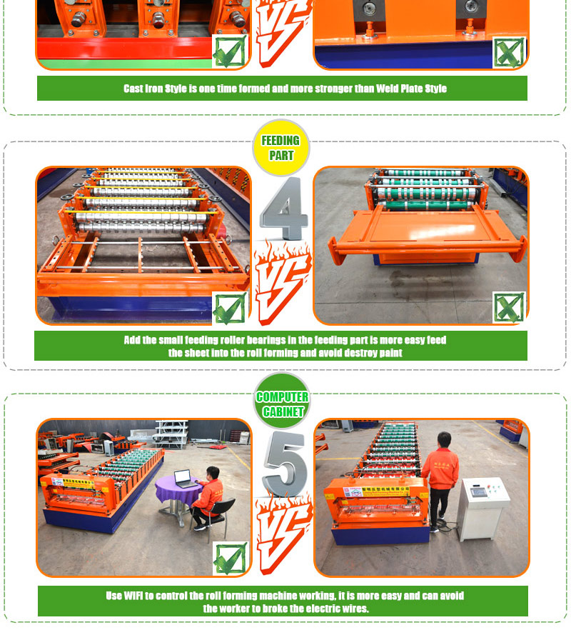 high quality low cost automatic door frame cold profile roll forming bending machine