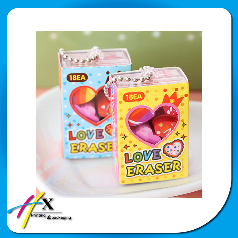 2016 new small product packaging toy box tiny acrylic box with colored paper sleeve