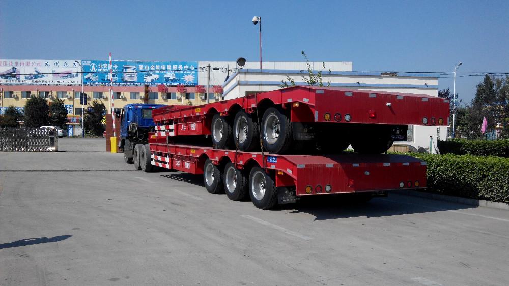 3 axle rear dump semi trailer with HYVA cylinder U shape or square shape