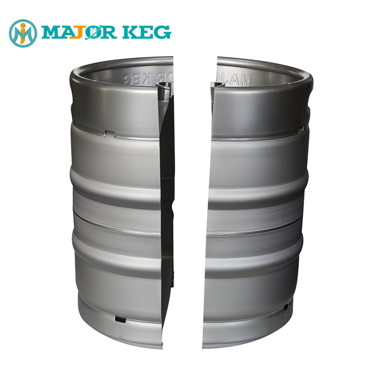 MAJOR KEG custom metal beer bucket DIN stainless steel cask