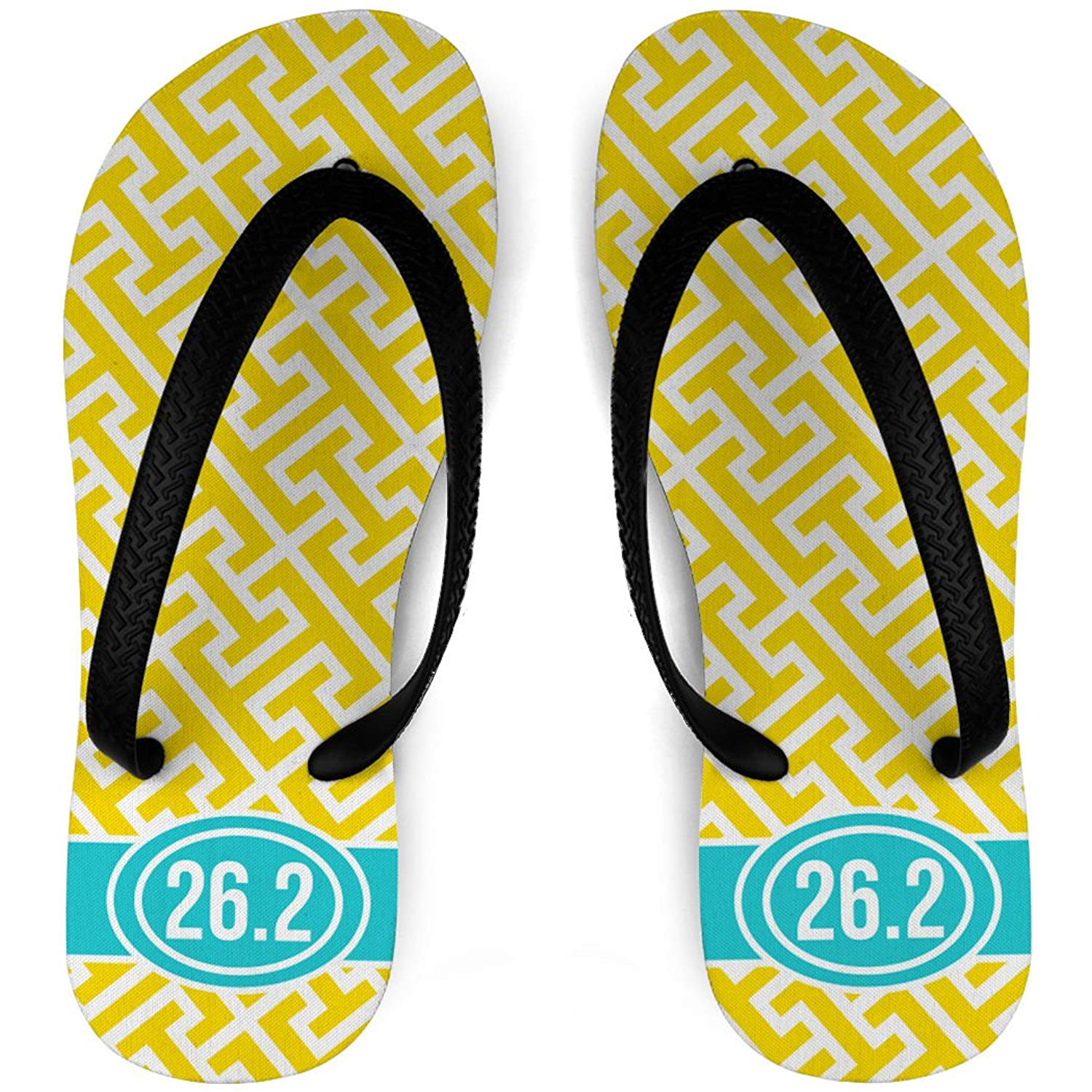 0eafa24a0360 Get Quotations · Running Flip Flops Tread Pattern With Ribbon 26.2