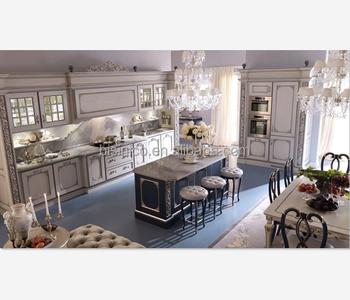 Queen Anne Gabinete De Cocina Con Isla,Lujo Mano De Madera Tallada Muebles  Cocina Set,Vintage Armario De Cocina - Buy Armario De Cocina Con Conjunto  ...