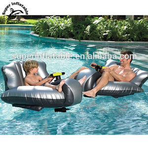Swimming Motorized Bumper Boat inflatable floating lounge chair