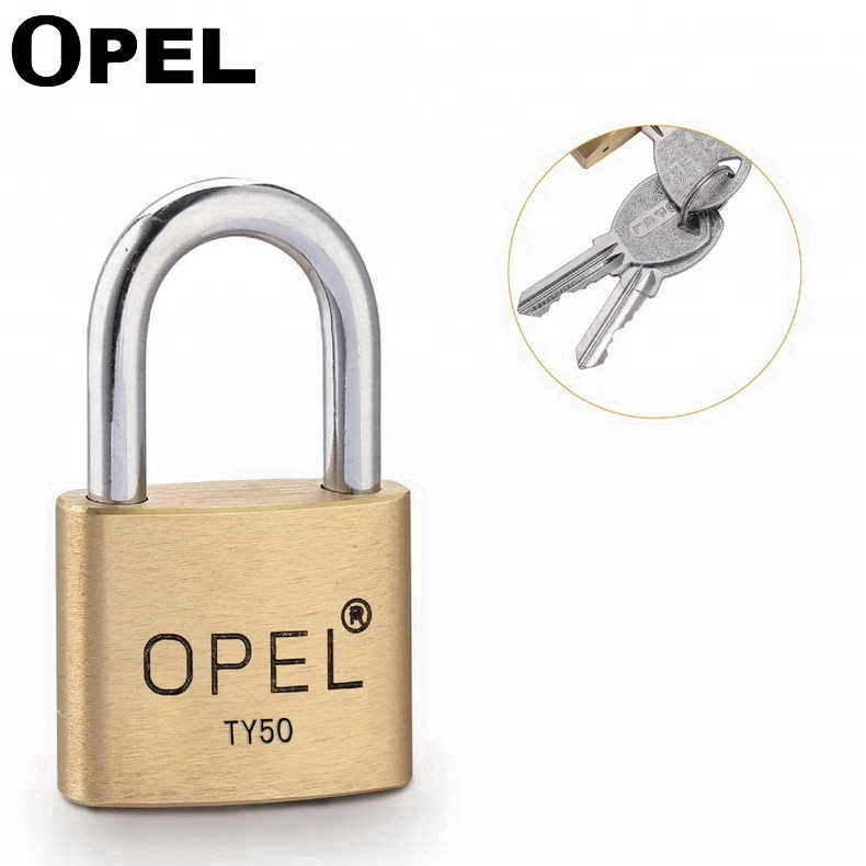 China Best Quality Oval/Ellipse Shape Solid Brass Copper Padlock