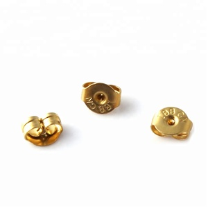 Gold plated stud earring backs stopper ear nuts jewelry findings components