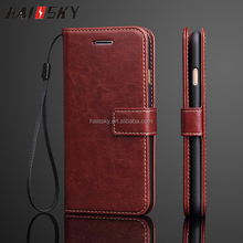 Haissky 2017 new style universal Flip PU leather wallet phone case for iphone 7 with card slot