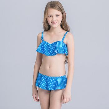abe8294c080 New Girl's Bikini 2018 for Teenager Child Girl Swimsuit Two Piece Bathing  Suit Swimwear