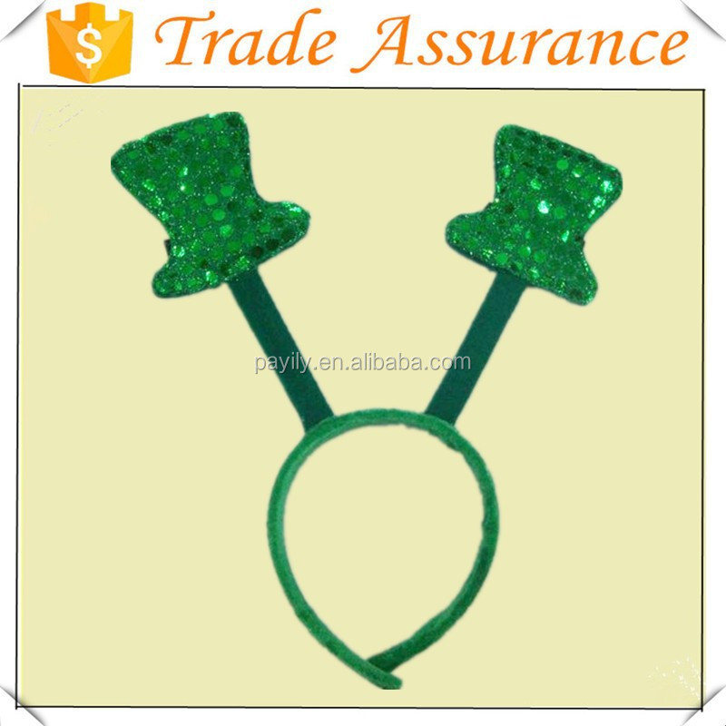 factory sale green color irish headband Saint Patrick's Day