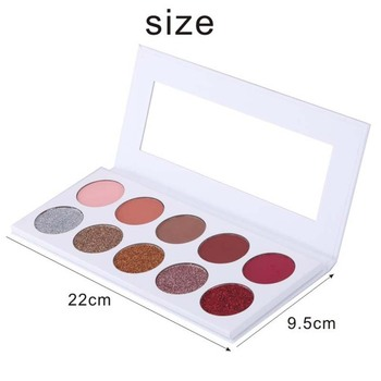 No Brand Custom Make Up Cosmetic Shinning 10 Color Eye Shadow Palette Private Label