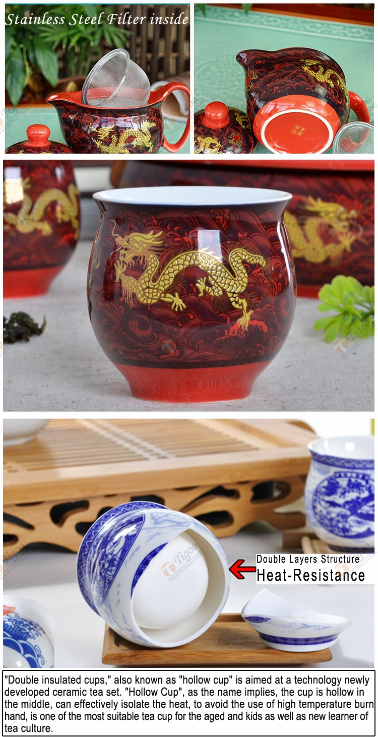 Wholesale Gold Plated Teapot Chinese China Dragon Promotional Gift ...