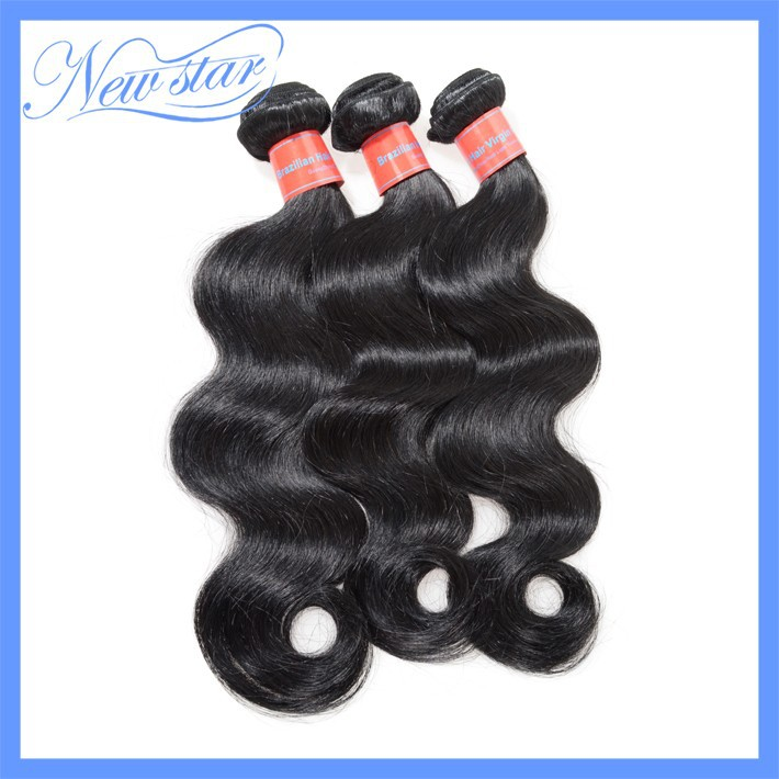 New Star 3 bundles cheap brazilian body wave virgin human hair extension