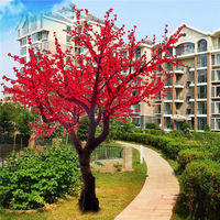 Outdoor led simulation tree for chrstmas decoration/ white color for wedding decoration, waterproof tree