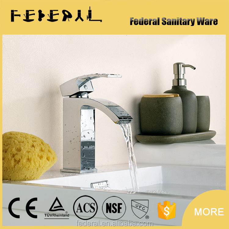 Elegance and fashion extension stainless steel hose Waterfall single handle basin fauce