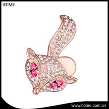 Austria crystal cute fox brooches for party