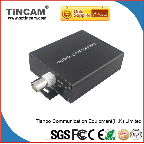 Ethernet Over Cable EOC IP signal transceiver over coaxial cable analog to ip converter rj45