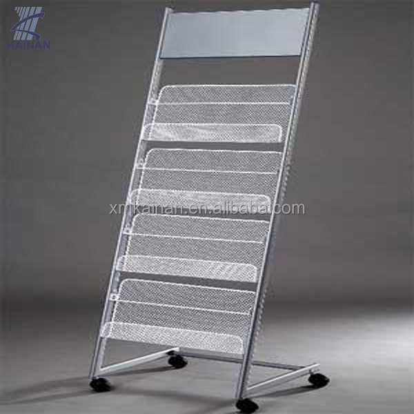 2014 china hot sale new design pop metal magazine display stand