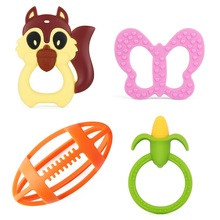 China Manufacturer BPA Free Baby Silicone Teething Ring Toy KEAN