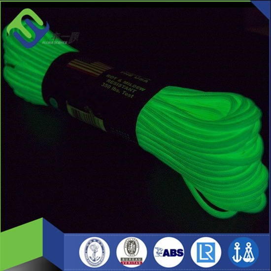 2017 new glow in the dark braided paracord 550 survival rope for sale