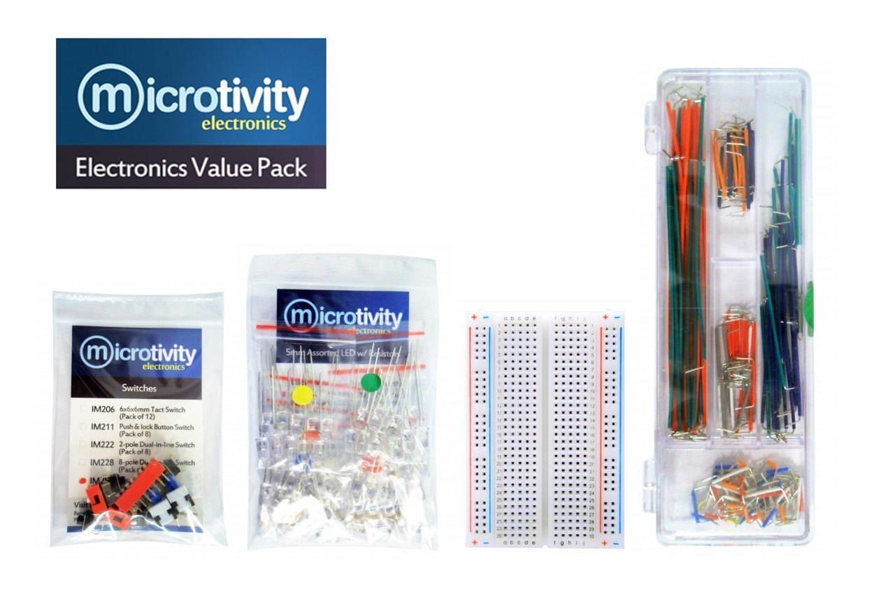 Cheap Wires And Switches Find Deals On Line At Tact Switch Wiring Get Quotations Microtivity Value Pack Ks4 06bs Jumper 400 Point Breadboard 60