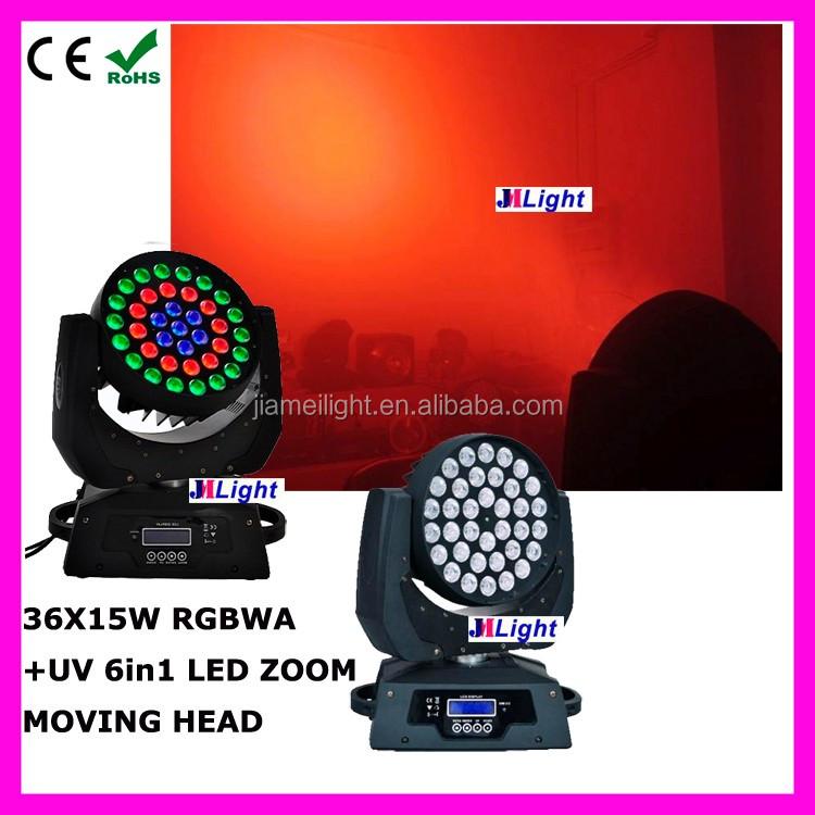 36pcs Led Wash Zoom Dimmer Moving Head Flashlight Sharpy Light ...