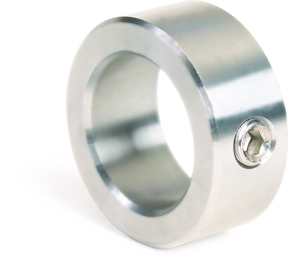 Climax Metal C-043 Shaft Collar 10-Pack 7//16 Width 7//8 OD Zinc Plated Steel, With 1//4-20 Set Screw, One Piece Set Screw Style 7//16 Bore
