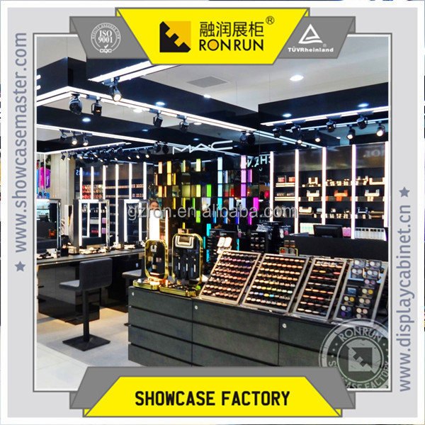 High end retail cosmetics shop fixtures make up display counter design and factory products