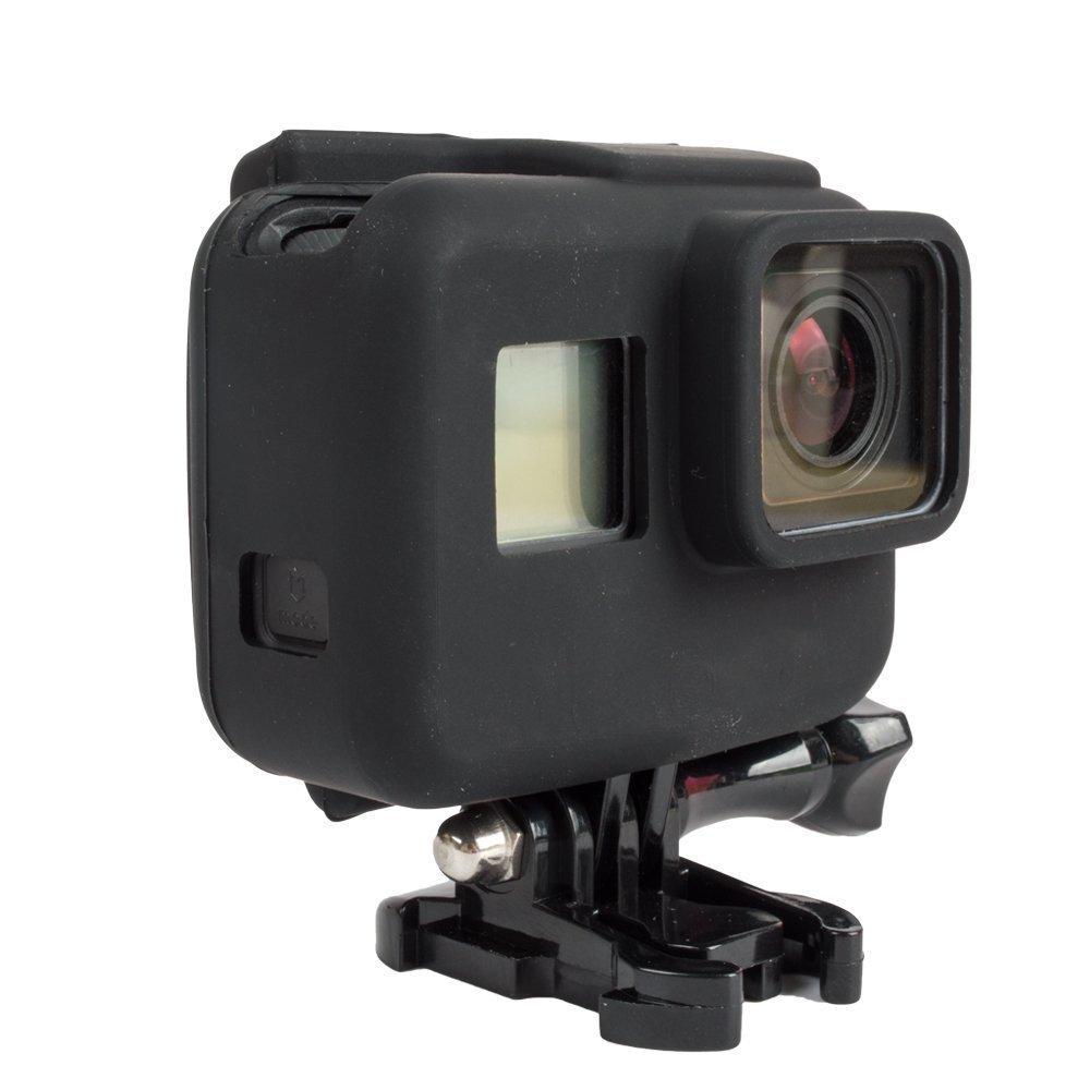 Williamcr Standard Protective Dive Housing Case Silicone Cover Soft Case for GoPro 5 Black Outside Sport Camera GoPro Hero 5 Black (Black)