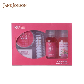 Shower bath gift set aroma body lotion and cream for sale