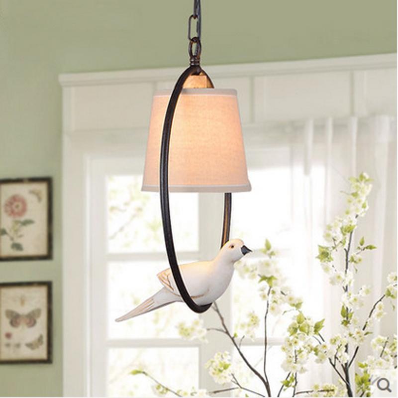 Hot Lustre Genuine LED Pendant Lights Vintage Bird Bedroom