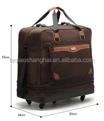 30 36 40 Rolling Wheeled Duffle duffel Bag spinner Suitcase Luggage  Expandable 0d5d99121e7e3