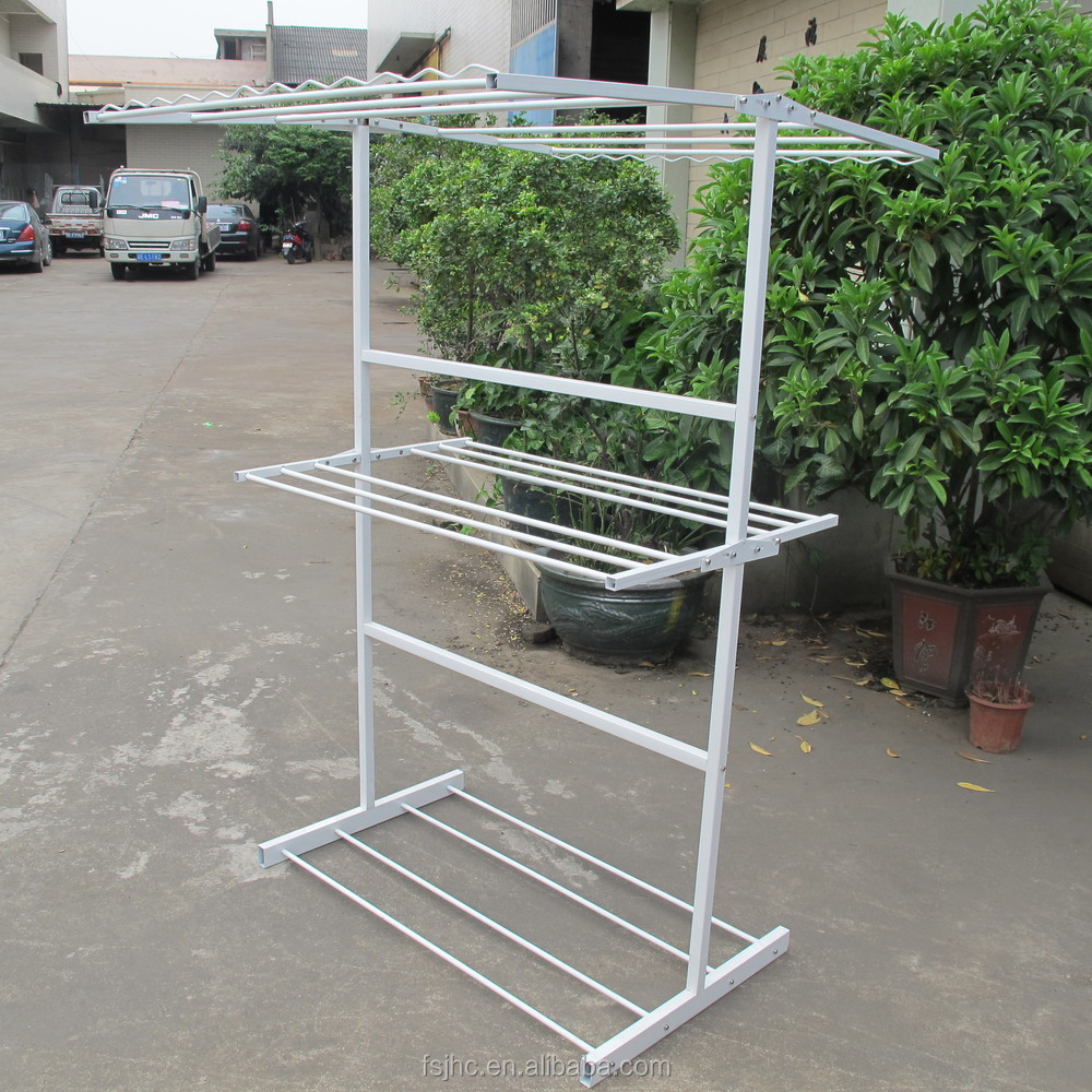 Steel Clothes Hanging Rack Standing Outdoor Clothes Drying
