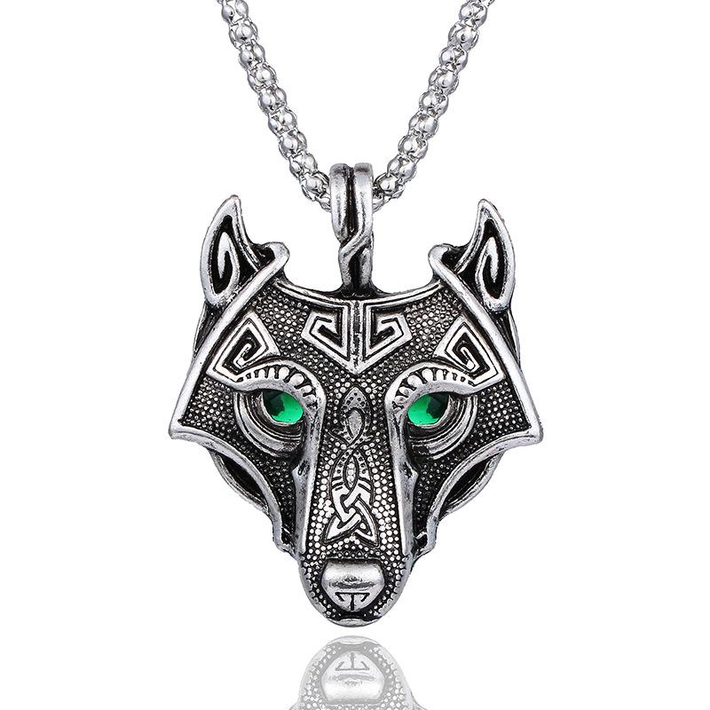 b09852f002fe Celta Lobo cabeza collar nórdicos amuleto colgante de joyería fabricantes  directa ...
