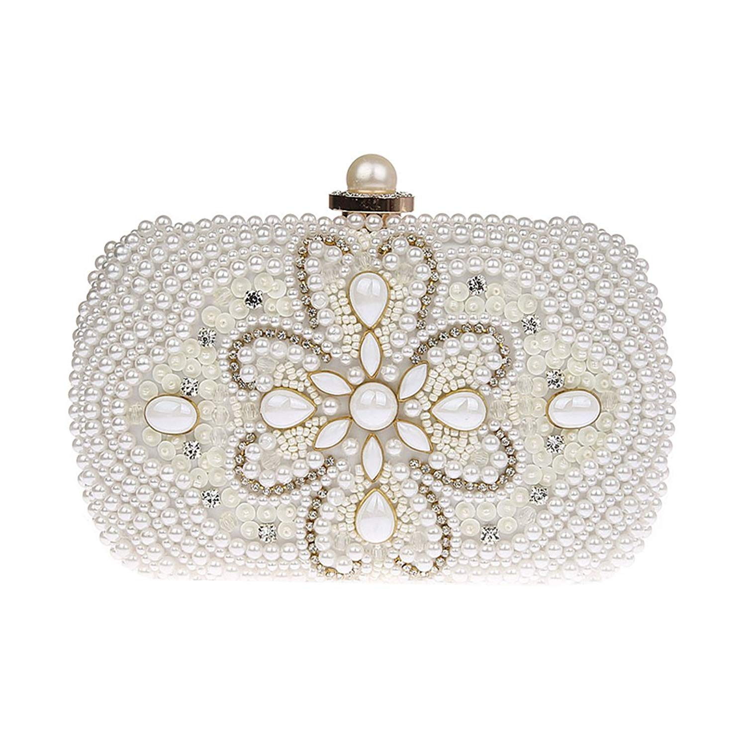 75ebc12905f Get Quotations · KAXIDY Flower Evening Bag Elegant Clutch Bags Wedding  Clutch Bridal Prom Party Purse Bags