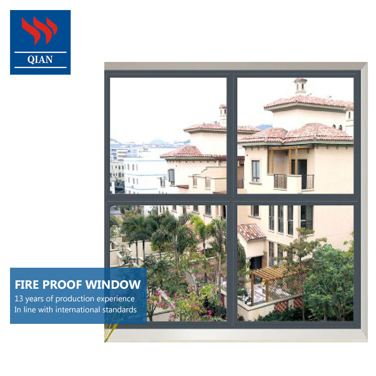 Powder coating fire-proof window galvanized steel sheet fire resistant windows(FW-JY-002)
