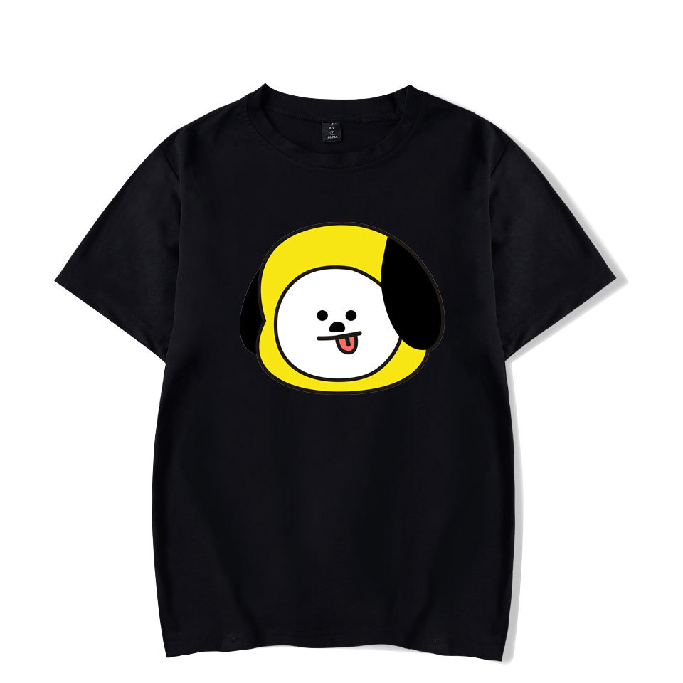 Youth BTS print funny t shirt 100% cotton couple polo t-shirt short sleeve latest shirt designs summer Tees women Tops steetwear