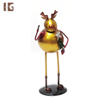 Wholesale Round Metal Festival Decoration Christmas Elk